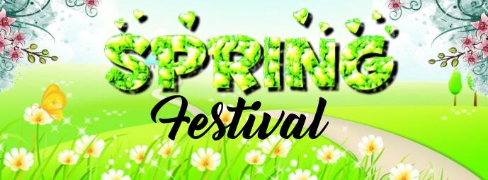 Spring Festival Portada de Facebook template