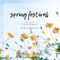 Spring Festival Instagram Post template