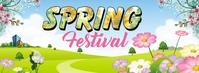 Spring Festival Facebook-coverfoto template