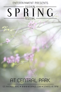 spring festival event flyer template