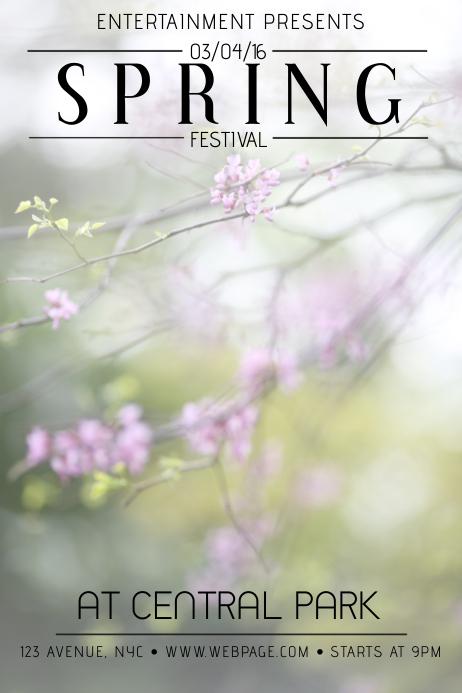 spring festival event flyer template