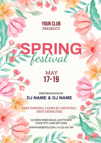 SPRING FESTIVAL EVENT FLYER TEMPLATE A4
