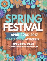 Spring Festival Flyer (US Letter) template