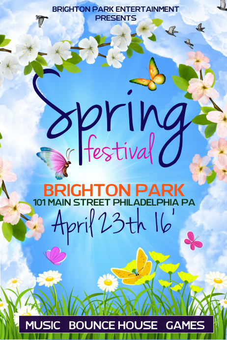 Spring Festival Póster template
