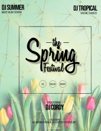 Spring Festival Party Event Flyer Template