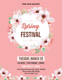 Spring Festival Party Flyer 传单(美国信函) template