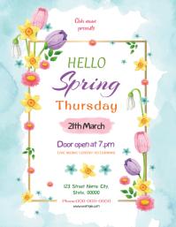 Spring Festival Party Flyer Folder (US Letter) template
