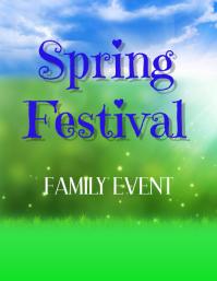 spring festival poster,spring design flyer,poster