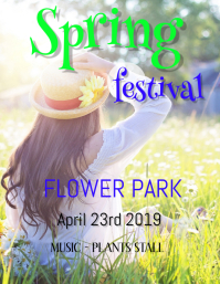 SPRING FESTIVAL TEMPLATE,small business flyer,poster