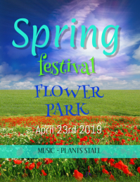 SPRING FESTIVAL TEMPLATE,small business flyer