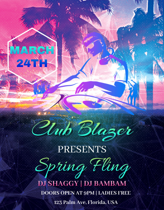 Spring Fling Event Poster/Wallboard template
