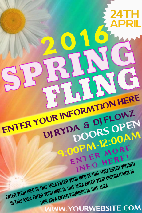 Spring Fling Template  Postermywall