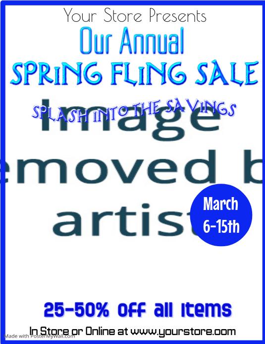 Spring Fling Sale Flyer Template