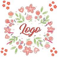 spring floral logo design template Logótipo