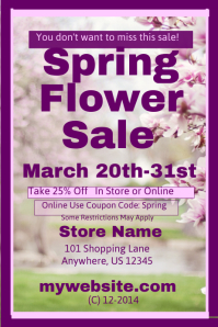 Spring Flower Sale Template