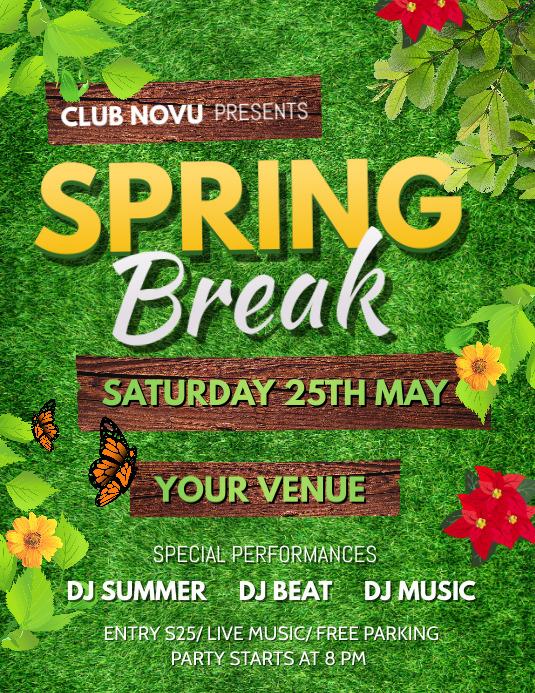 Spring Flyer, Spring Sale Flyer, Spring Party Iflaya (Incwadi ye-US) template