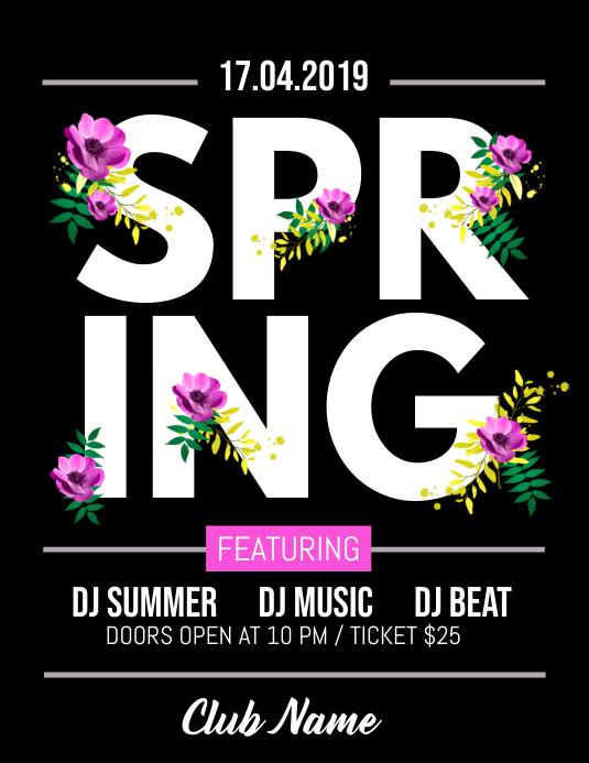 Spring Flyer, Spring Sale Flyer, Spring Party Flyer, Spring