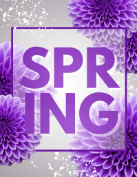 Spring Flyer, Spring Sale Flyer, Spring Party Flyer, Spring