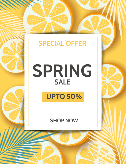Spring flyer,Summer,Summer sale 传单(美国信函) template