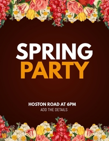 spring flyer,party flyer,event flyer
