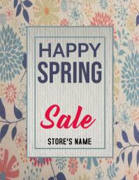 Spring Flyer Folheto (US Letter) template
