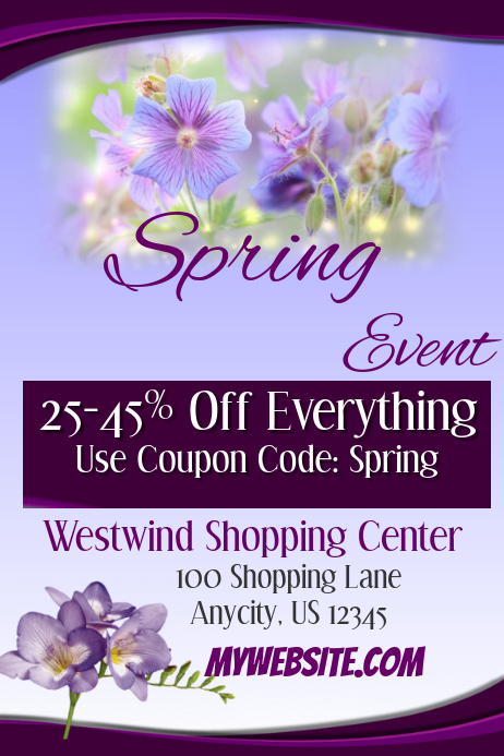 Spring Flyer Template Postermywall