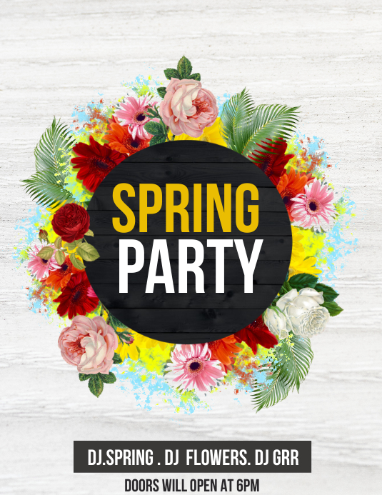 spring flyers,event flyers,party flyers