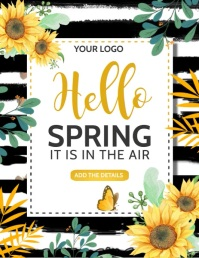Spring flyers,Event flyers Pamflet (Letter AS) template