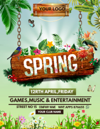 Spring flyers Pamflet (Letter AS) template