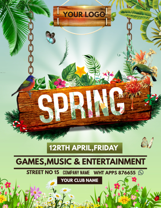 Spring flyers template