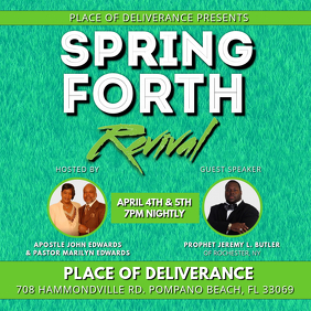 SPRING FORTH CHURCH REVIVAL FLYER