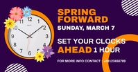 spring forward daylight saving begins Gedeelde afbeelding op Facebook template