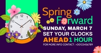 spring forward daylight saving begins Image partagée Facebook template