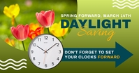 spring forward daylight saving begins design Imagem partilhada do Facebook template