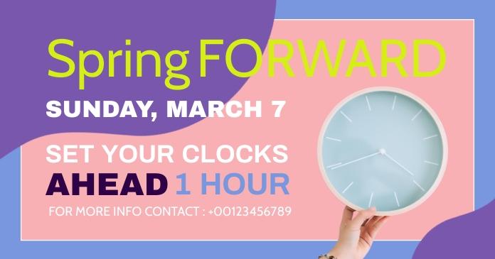spring forward daylight saving begins Gambar Bersama Facebook template