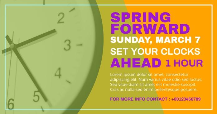 spring forward Facebook Shared Image template