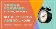 spring forward Image partagée Facebook template