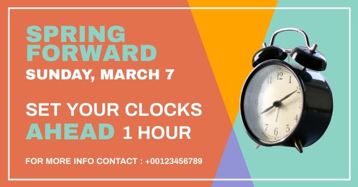 spring forward delt Facebook-billede template
