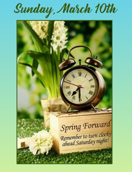 9b1f8c8c10dd9e Spring Forward to Daylight Savings Time Template