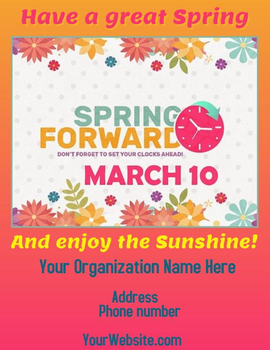 Spring Forward to Daylight Savings Time