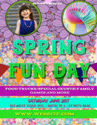 SPRING fun day FLYER POSTER TEMPLATE