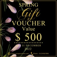 Spring gift voucher Instagram Post template