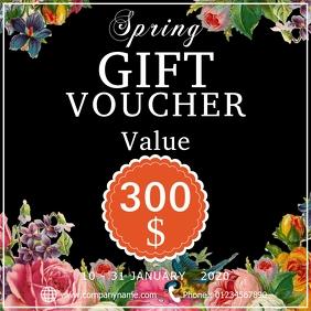 Spring gift voucher