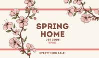 Spring Home Templates Średni prostokąt