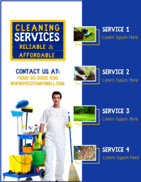 Spring House Cleaning Services Flyer Template ใบปลิว (US Letter)