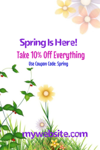 Spring Is Here Sale Event Flyer