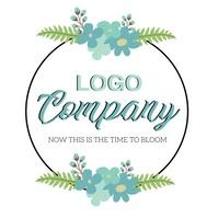spring logo design template 徽标