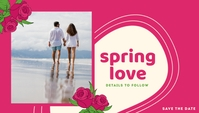 Spring Love Save The Date Templates Blog Header