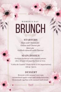 spring menu, Mother's day brunch, Poster template
