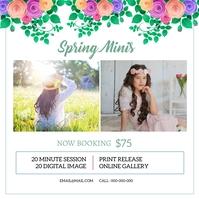 Spring Mini Session Instagram na Post template